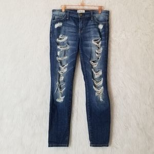 Current/Elliott The Stiletto Benett Tattered Jeans